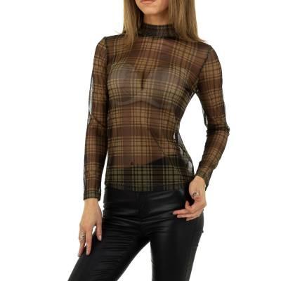 Langarmshirt für Damen in Braun