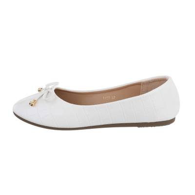 Klassische Ballerinas für Damen in Weiß