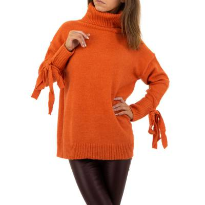 Longpullover für Damen in Orange