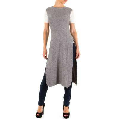 Longpullover/Tunika für Damen in Grau