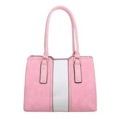 Mittelgroße Damen Tasche Rosa Weiß