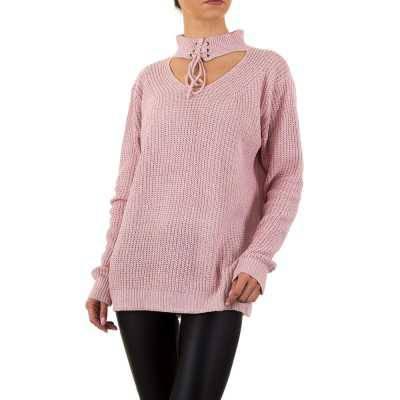 Longpullover/Tunika für Damen in Rosa