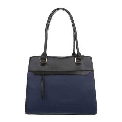 Mittelgroße Damen Tasche Blau Schwarz