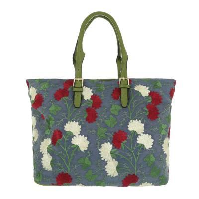 Große Damen Tasche Grün Multi