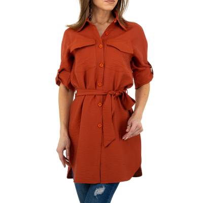 Longbluse für Damen in Orange