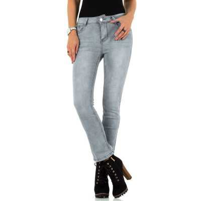 Bootcut Jeans für Damen in Grau