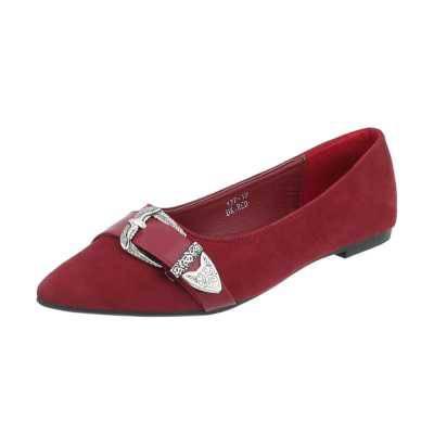 Klassische Ballerinas für Damen in Rot