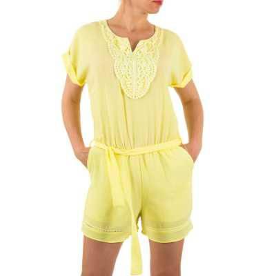 Kurzer Jumpsuit für Damen in Gelb