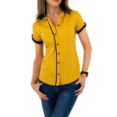 Hemdbluse für Damen in Gelb