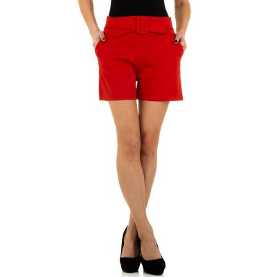 High Waist Shorts für Damen in Rot
