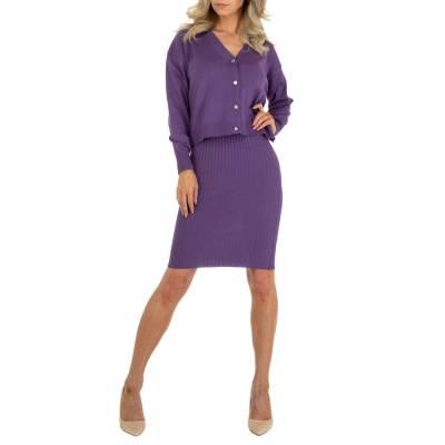 Stretchkleid für Damen in Violett