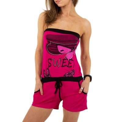 Kurzer Jumpsuit für Damen in Rosa