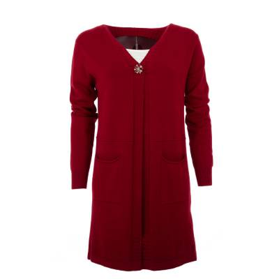 Strickjacke für Damen in Rot