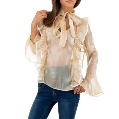 Hemdbluse für Damen in Beige