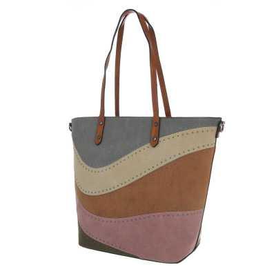 Große Damen Tasche Braun Multi