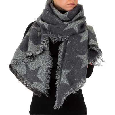 Riesen Wollmix Xxl Schal Grau