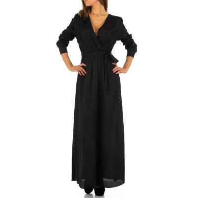 Maxikleid für Damen in Schwarz