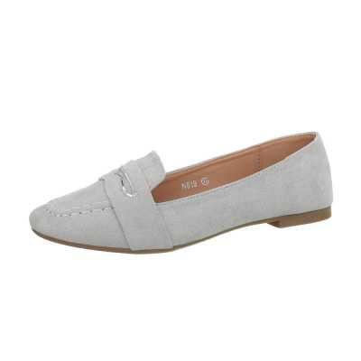 Slipper für Damen in Grau und Silber