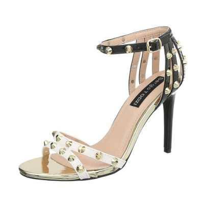 High Heel Sandaletten für Damen in Weiß und Schwarz