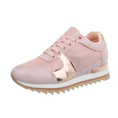 Sneakers low für Damen in Rosa und Gold