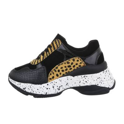 Sneakers low für Damen in Gelb und Schwarz