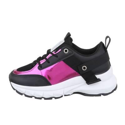 Sneakers low für Damen in Schwarz und Pink