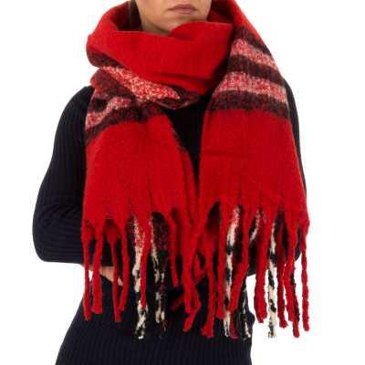 Großer Wollmix Schal Rot