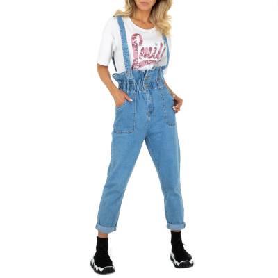 Straight Leg Jeans für Damen in Blau und Hellblau