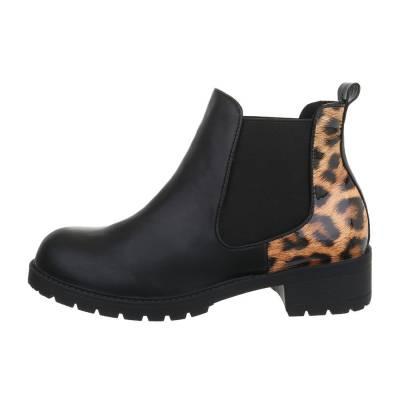 Chelsea Boots für Damen in Schwarz und Leo