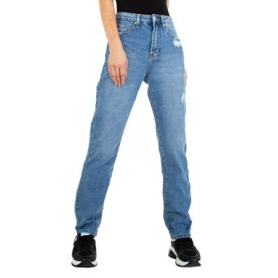 Straight Leg Jeans für Damen in Blau
