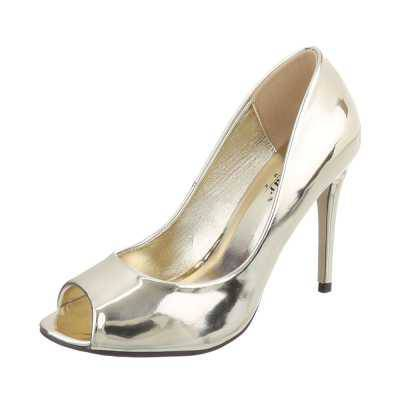 Peeptoes für Damen in Gold