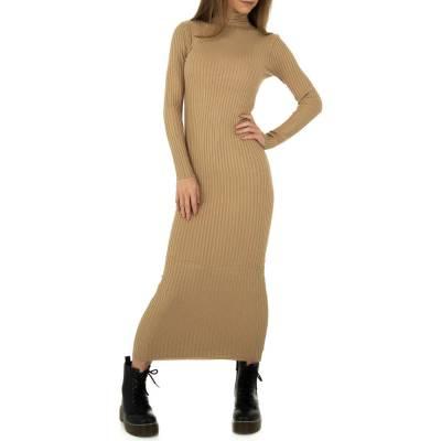 Strickkleid für Damen in Beige