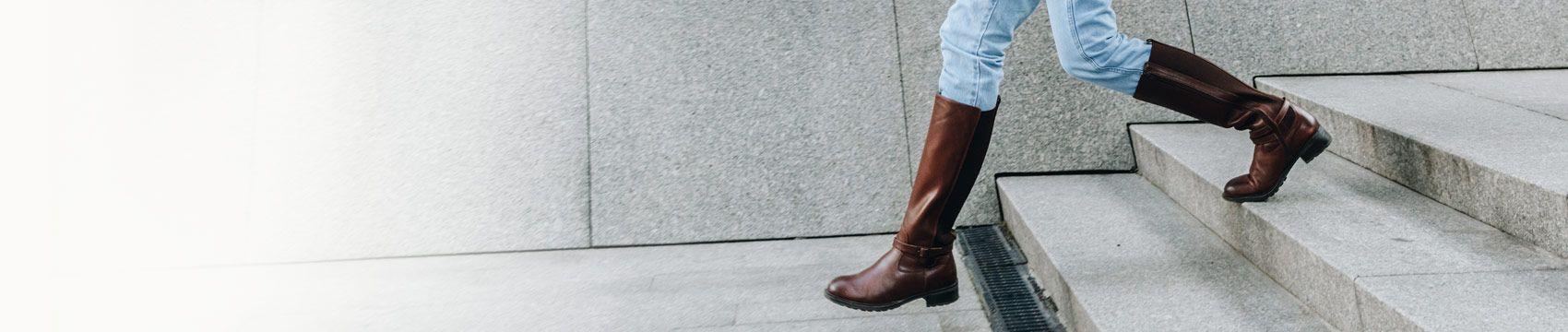 Flache Stiefel