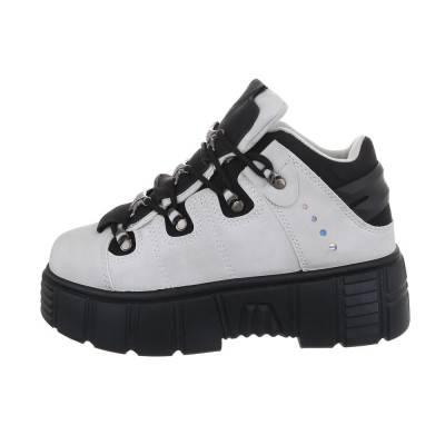 Sneakers high für Damen in Grau und Schwarz