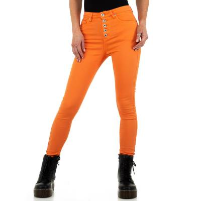 Skinny Jeans für Damen in Orange