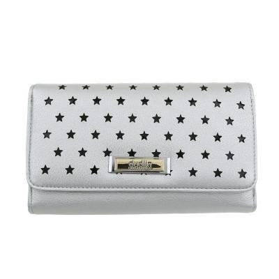 Portemonnaie Damen Geldbörse Silber