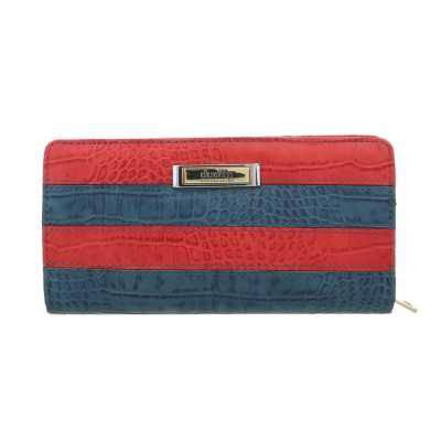 Portemonnaie Damen Geldbörse Rot Blau