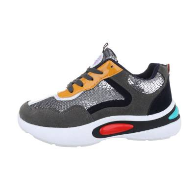 Sneakers low für Damen in Grau und Orange