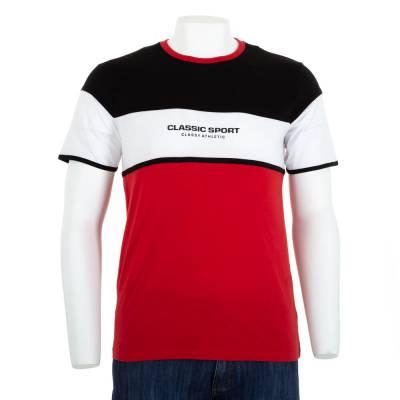 T-Shirt für Herren in Rot und Schwarz
