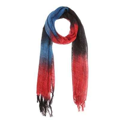Halstuch Mit Fransen Schal Rot Blau