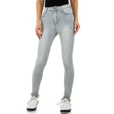 High Waist Jeans für Damen in Grau
