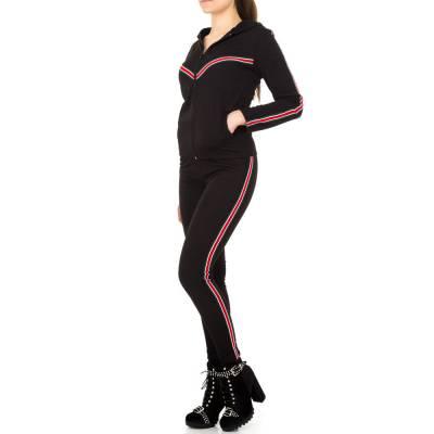 Jogging- & Freizeitanzug für Damen in Schwarz