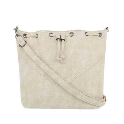 Mittelgroße Damen Tasche Creme