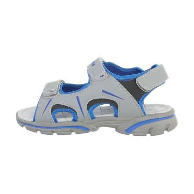 Jungen Kinder Sandalen Grau Blau