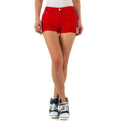 Hotpants für Damen in Rot