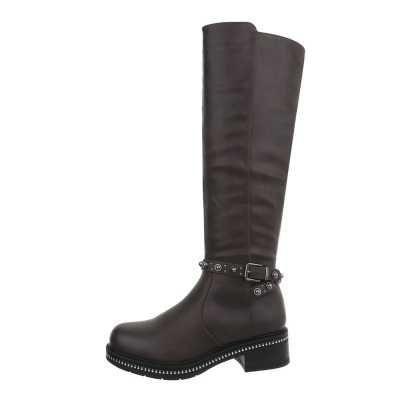 Klassische Stiefel für Damen in Grau und Braun