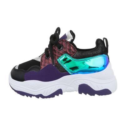 Sneakers low für Damen in Schwarz und Lila