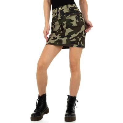 Jeansrock für Damen in Grün