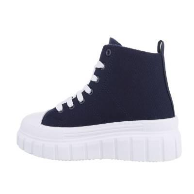Sneakers High für Damen in Blau und Weiß