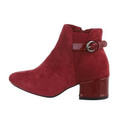 Klassische Stiefeletten für Damen in Rot